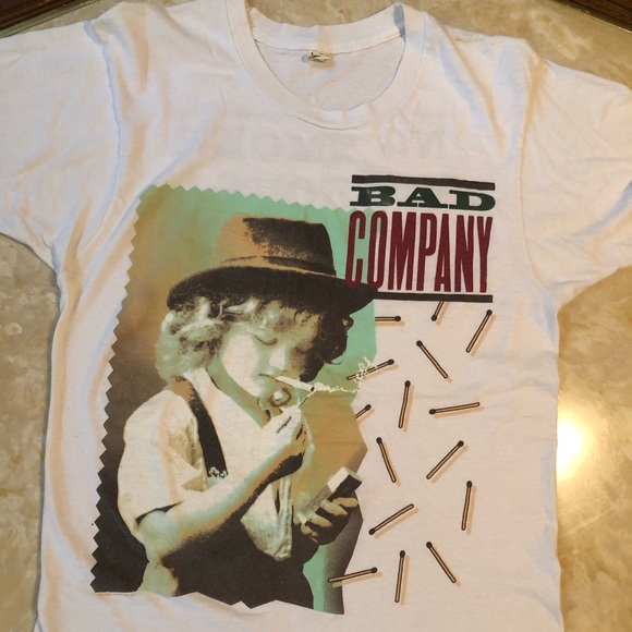 Other - Vintage Tee Bad Company No Smoke Without Fire